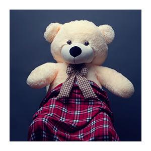 Плюшевый медведь Миха (белый)