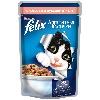 Корм для кошек Felix (Феликс) Аппетитные кусочки консервы с лососем в желе 85г пакет