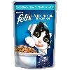 Корм для кошек Felix (Феликс) Аппетитные кусочки консервы с лососем и цуккини в желе 85г пакет