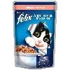 Корм для кошек Felix Аппетитные кусочки консервы с форелью и зеленой фасолью в желе 85г пакет