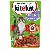 Корм для кошек Kitekat (Китекат) Влажный рацион кролик в соусе 100г пакет