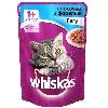 Корм для кошек Whiskas (Вискас) Влажный рацион Сочные кусочки с кроликом 85г пакет