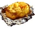 Картофель с сыром и маслом