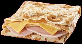 Блин двойной с ветчиной и сыром