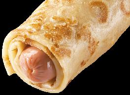 Блин «Сосиска в тесте с соусом»*