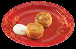 Сырники 2 шт. Со сметаной или сладкой начинкой на выбор(вишня, крем карамельный, клубника, мед, сгущенное молоко, десерт